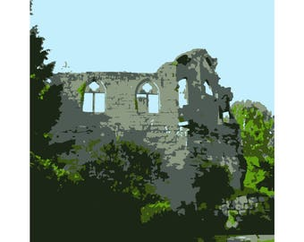 French Castle Ruins