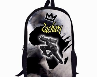 Custom Black Panther African American Melanin Backpack with Optional Phone Case