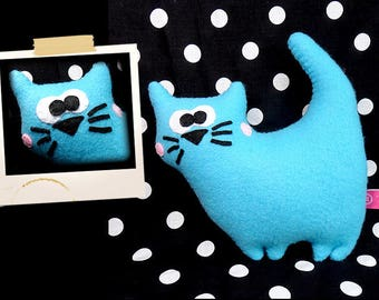 Plush blue kitten APLUCHES shaped