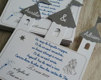 simple card Castle invitation