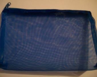 Clutch blue zip customize