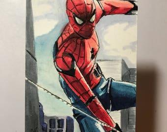 Spiderman Homecoming #2 - Artist Sketch Card