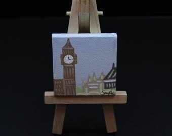 Miniature Big Ben Painting