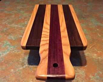 Handmade Exotic Wood Serving Tray / Cheese Tray