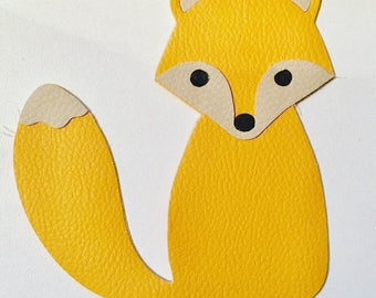 Personalized leatherette Fox Christmas ornament