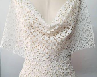 Geometric Design Cotton Eyelet