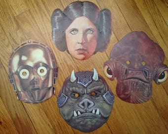 Vintage Star Wars paper masks