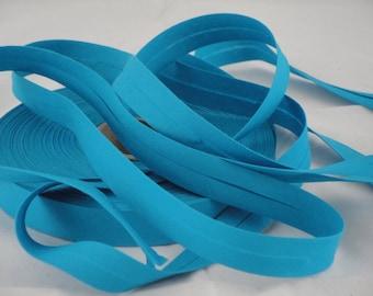 Turquoise Blue cotton bias