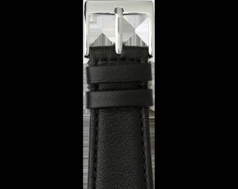 Roobaya   Premium Apple Watch bracelet made of nappa leather in black. including adapter tailored color to the Apple Watch