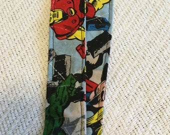 Superhero fabric lanyard