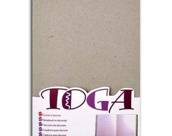 Notebook blank white 13 x 18 cm - 80 pages - Toga.