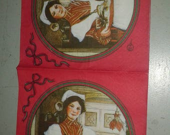 "Pretty NAPKIN pattern ""Waitress"""