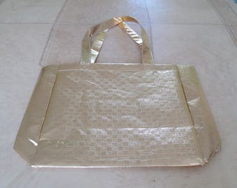 Gold plastic bag