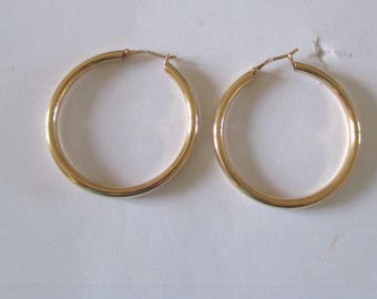 Creole rings gold plated 30mm