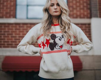 Mickey Mouse Varsity Sweater from the 80's
