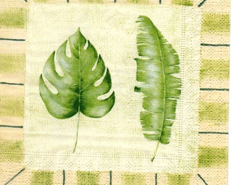 LEAF and feather 1 towel paper 654