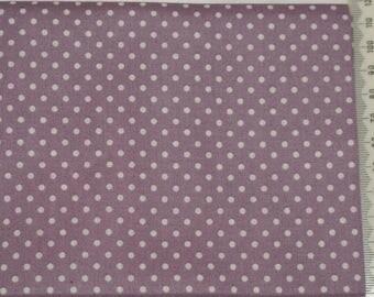 Fabric Makower - polka dots (2mm) white on purple background