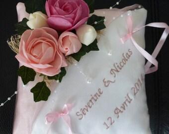 cushion pink powder chic country theme wedding