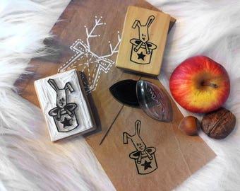 Pad handmade Bunny and magic Hat pattern