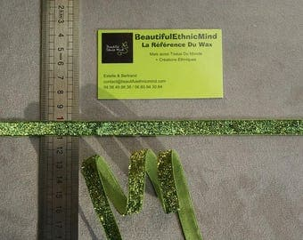 10 mm Green sparkly glittery Ribbon