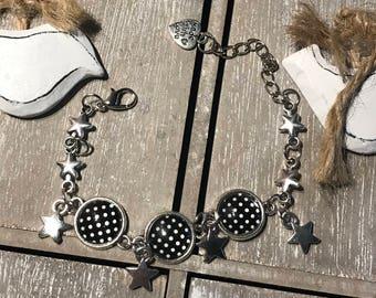 Polka dot bracelet -  rockabilly, punk, 60's, vintage outfit