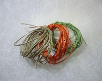6 m cotton cordon 1 mm assorted colors