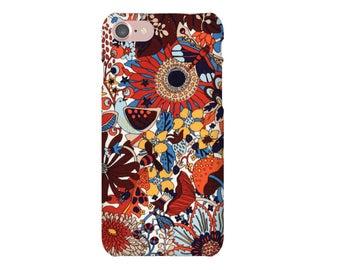 IPhone case 7, 7 + liberty Elodie Bea ORANGE iPhone case