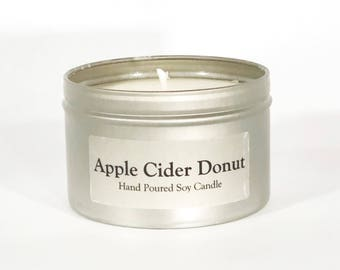Apple Cider Donut Scented Soy Candle 8 oz--Cider Donut Gift--Fresh Baked Donuts--Fall Gift--Berkshire Gift