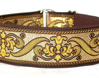 """Dog collar Jacquard ribbon in unique colourful """"Royal"""" style"""