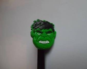 Hulk with polymer clay pen tip