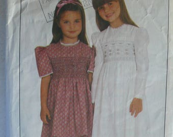 Girls Dress Pattern - Vintage Butterick 4308 - Girl's Size 3 and 6X
