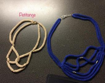Necklace knitting, handmade, original