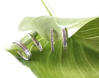 Sterling Silver 925 Toe Ring Adjustable Stacking Midi Ring 925 Silver
