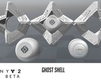 Destiny 2 ghost shell from the Beta