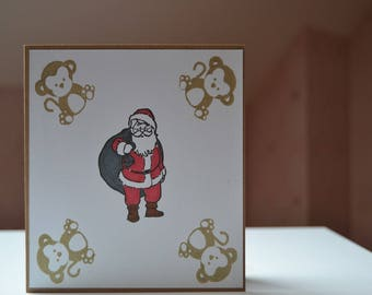 Child Santa Claus Christmas card