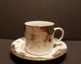 Tienshan Magnolia Tea Cup And Saucer