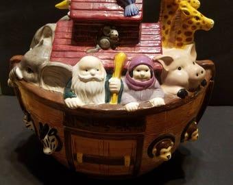 Vintage Noahs Ark Cookie Jar