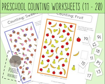 Printable Counting Worksheet for Preschoolers (11-20) DOWNLOAD