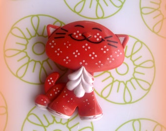 1973 * Avon fragrance pin Kitty Cat