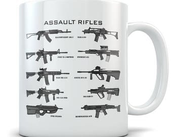 Assault Rifle Coffee Mug - The Perfect Gun Mug for Enthusiasts - Makes a Great Gift for Gun Nuts