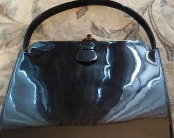 Vintage Black Patent Leather Pocketbook/Purse