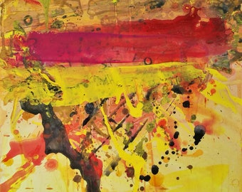 Original abstract expressionist painting, modern wall art.