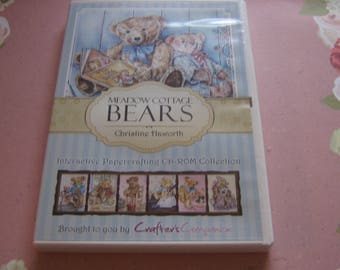 Crafter's Companion, Meadow Cottage Bears,  Interactive Papercrafting CD-ROM