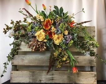 Rose Arbor swag - Wedding Flowers - Wedding Arbor Decorations - Wedding decorations – chuppah flowers – wedding Arch flowers –wedding arch