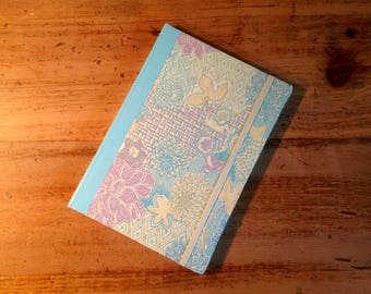 Geometric Flower Fabric Covered Journal