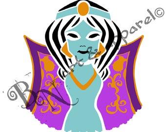 Arabian Nights Jasmine Colour Logo Print