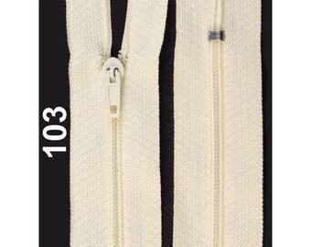 ecru nylon closure size 20 cm