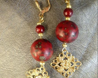 Jasper Baroque earrings