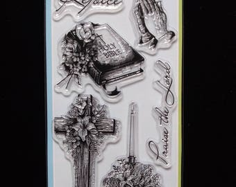 Spiritual Sketches 99548 Inkadinkado Clear Rubber Stamps