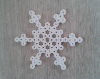 Bead hama 2 snowflake shaped Christmas decoration